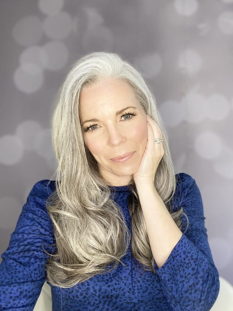 This is what happened when I stopped Dyeing my Hair.  Over 40's woman with long natural grey hair.  Healthy and Happy.